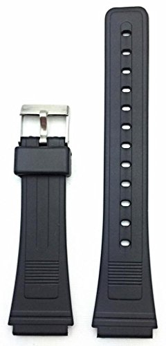 19mm Black Rubber Watch Band -- Comfortable and Durable PVC Material