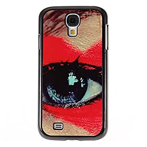 ZCL-Modelo rojo de los ojos de espejo liso de nuevo caso duro con la película de alta definición de pantalla 3 piezas para Samsung Galaxy S4 i9500