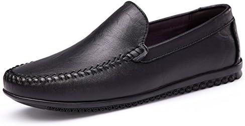 ファッションカジュアル男性ローファー高品質金属装飾アップリケ本物の本革の靴男フラットシューズビジネスビーン靴小さなモカシン