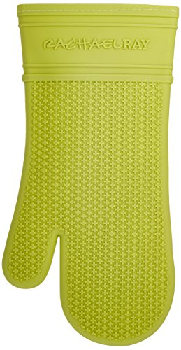 Rachael Ray Silicone Kitchen Oven Mitt with Quilted Cotton L