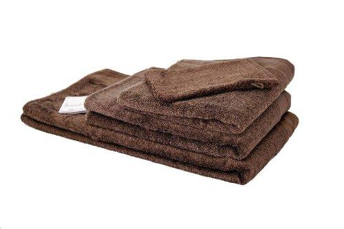 Santens - 3 toallas de baño de bambú - color marrón: Amazon.es: Ropa y accesorios