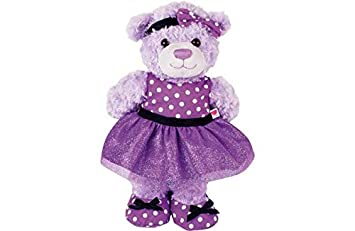 Chad Valley Design-a-Bear Purple Prom Dress Outfit.