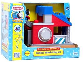 (Thomas Take Along Lights & Sounds Sodor Engine Wash Playset with Thomas Die Cast)