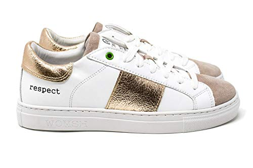 rame Donna Bianco 18 Kingston Made Sneakers In Womsh Pelle Italy H6pwzfqq