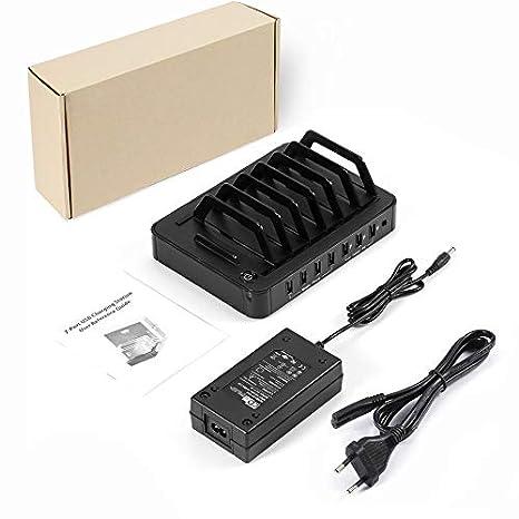 S762 - Estación de Carga USB Universal de 7 Puertos Base de ...