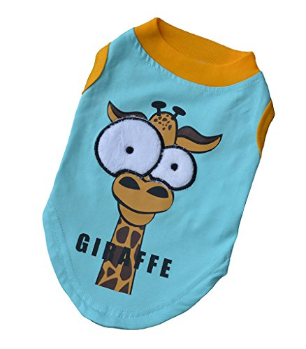 Dog Shirts for Small Dogs in Summer - Tee Shirts in 100% Cotton & Sleeveless Style, Sky Blue Size M - Father Sky Costume