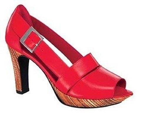 Ashley Brooke Peeptoes - Zapatos de Vestir de cuero Mujer Rojo - Rouge - Rouge