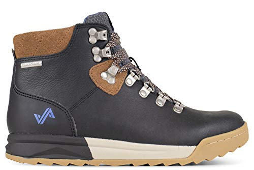 Forsake Patch - Women's Waterproof Premium Leather Hiking Boot (9, Black/Tan)