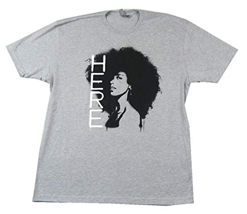 Afro Pic Here Light Heather Grey T Shirt (2X)