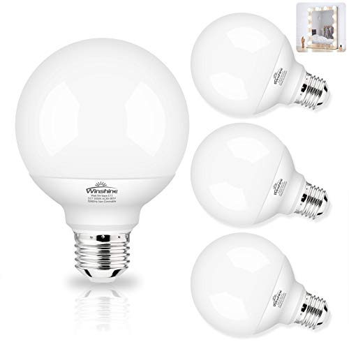G25 LED Globe Light Bulbs, 5000K Daylight Vanity Mirror Light Bulbs for Bathroom E26 Medium Screw Base 60W Equivalent…
