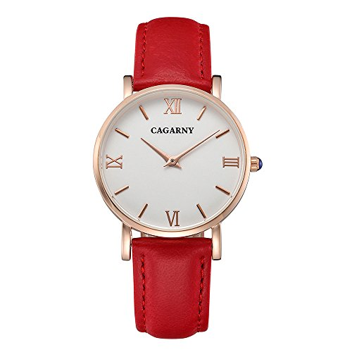 Quartz Wristwatch for Woman with Red Band,40mm (Date President White Gold Oyster)