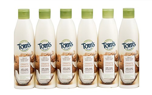 Toms Of Maine Natural Soap (Tom's of Maine Natural Moisturizing Body Wash Soap with Virgin Oil, Coconut, 12 Ounce, 6 Count)