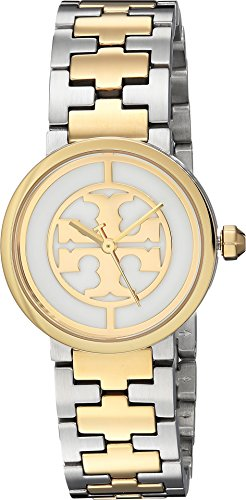 Tory Burch Women's Reva - TBW4016 Two-Tone Silver/Gold One ()