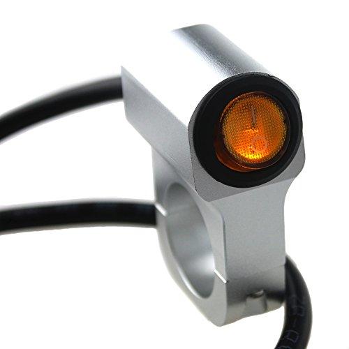 IZTOSS New 12v 16A Motorcycle CNC aluminium alloy Switches 1'' 25mm Handlebar headlight Switch with yellow indicator light Sport Dirt Electric Bike Interrupteur Moto (25mm) by IZTOSS