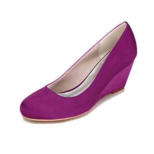 L@YC Women'S High Heels Slope With Wedding Shoes Customization 9140-01 Party & Shoes More Colors Purple