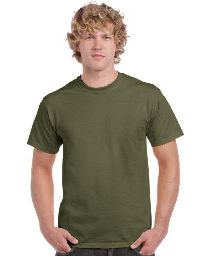 Gildan T-Shirt aus schwerer Baumwolle, Farbe: Military Green, Größe: XL