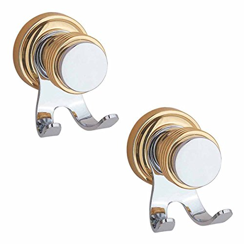 - Renovators Supply Manufacturing 2 Victorian Double Robe Hook Spectrum Chrome and Brass