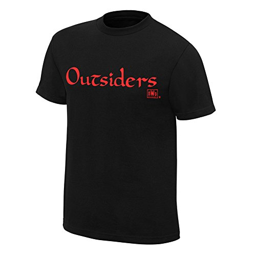 - WWE Authentic Wear NWO Wolfpac Outsiders Retro T-Shirt Black Small