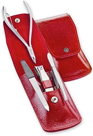 Estuche manicura Dovo 4 Tools piel rojo - manicura y pedicura: Amazon.es: Hogar