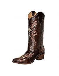 Corral Women's Circle G Cross Embroidered Cowgirl Boot Snip Toe