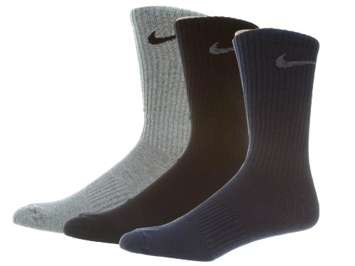 Nike Men's Dri-FIT Cushion Crew 3-Pack Socks SX4704-409 Medium