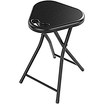 Folding Stool with Handle Portable Seat Chair Travel Home Set of 4 Stools Lightweight Counter Height  sc 1 st  Amazon.com & Amazon.com: Folding Stool with Handle Portable Seat Chair Travel ... islam-shia.org