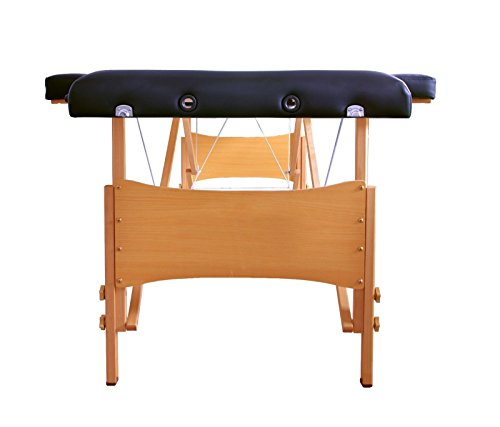 "Massage Table Portable Facial Bed 84""L 2 Black Fold W/ Sheet Bed Spa Facial"