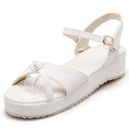 White Mujer Mujer Coolcept Hebilla Sandalias Hebilla Coolcept Sandalias White 8HAWOSnq