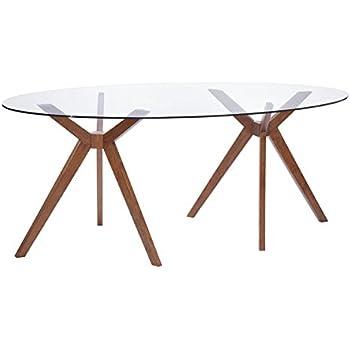 Amazon Com Zuo Modern Buena Vista Dining Table Walnut