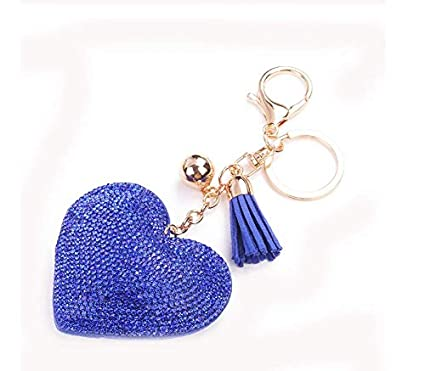 Accesorios de Llavero Love Studded Diamond Leather Tassel ...