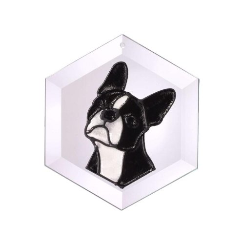 (Boston Terrier Painted/Stained Glass Suncatcher (Ew-243) by Silver Creek)