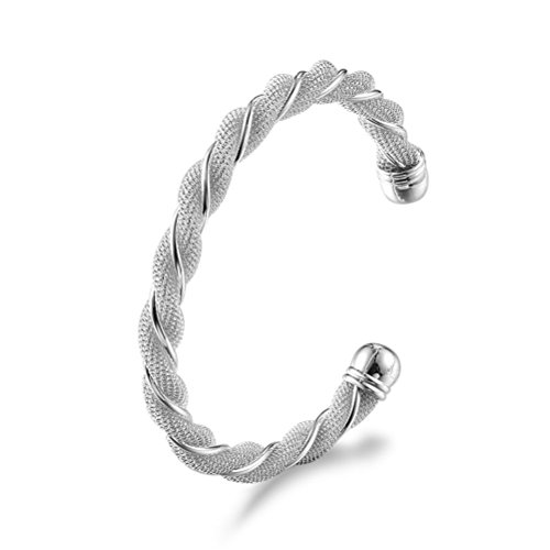 Kacon 925 Sterling Silver Filigree Cuff Bracelet, 7