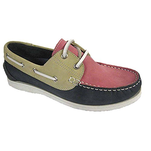 Sizes Ladies Seafarer UK 8 beige Navy Boat Shoes Deck Yachtsman Nubuck Leather Pink 4 7 0pwdrR0q