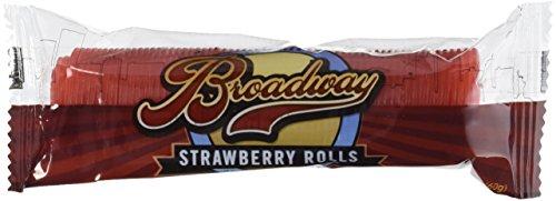 Broadway Licorice Rolls Strawberry 24ct