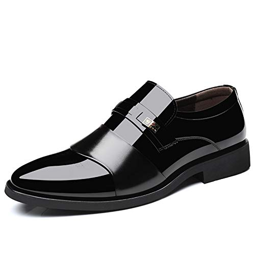 Negro Respira de de Zapatos tamaño Marrón de 44 shoes Cuero 2018 Negocios británico EU Color Formales de Casual Oxford de Los Hombre Estilo Zapatos Hombres Color Fang los Patente Yf6wvqq