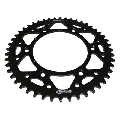 Supersprox Rear Steel Sprocket 49 Tooth Black for Yamaha YZ450F 2003-2018