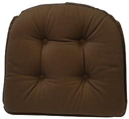 Klear Vu Gripper 100-Percent Cotton Twill Chairpad, Brown