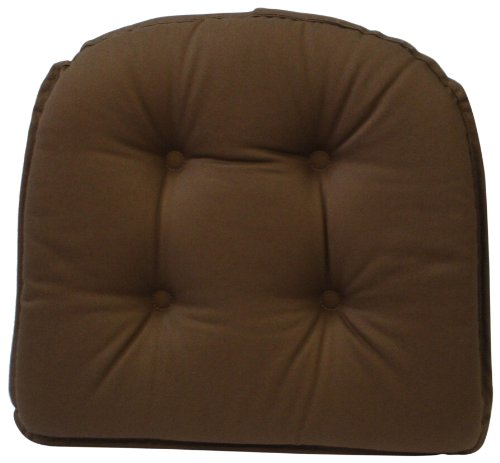 Klear Vu Gripper 100-Percent Cotton Twill Chairpad, Brown