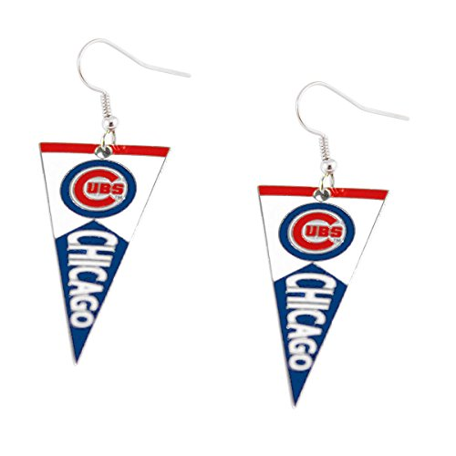 MLB Chicago Cubs Pennant Earrings