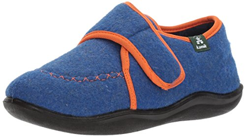 Kamik Boys' Cozylodge Slipper, Blue/Orange, 5 Medium US Toddler - Image 1