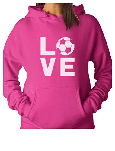 - TeeStars - I Love Soccer - Gift for Soccer Players/Fans Women Hoodie XX-Large Pink