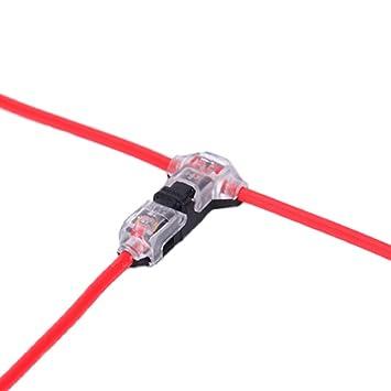 Conectores de cable: paquete de 12 conectores de baja tensión T de 1 vía 1 pin sin soldadura ...