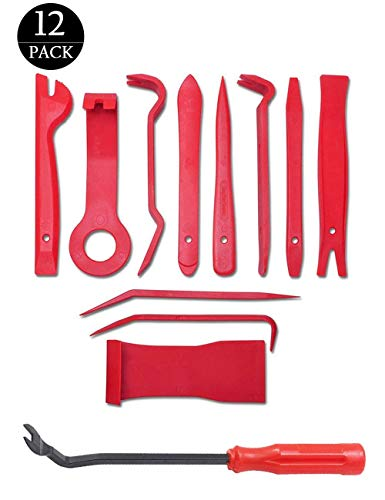 LEICESTERCN Auto Trim Removal Tool Kits for Car Audio Dash Door Panel Window Molding Fastener Clips Remover Tools