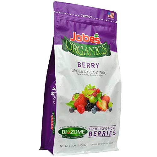 Jobe's Organics 09727 Berry Granular Plant Food, 4 lb, Brown