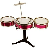 barodian's Mini Jazz Drum Percussion Instruments Set Kit Musical Toys with High Straight PVC Material Drumhead (4 Pcs) for Kids, Random Color