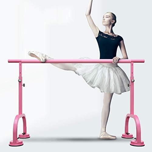 バレエバー バレエスタンド バレエ ダンス用バー バレエバレバー、大人子供世帯ダンスバー、自立、ポータブル、サクションカップタイプ、高さ調節 - ピンク Ballet Barre bar