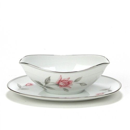 Rosemarie by Noritake, China Gravy Boat, Attached Tray (Noritake Boat Gravy China)