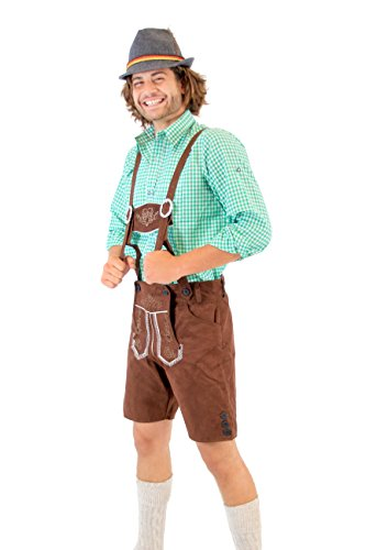 Oktoberfest German Bavarian Lederhosen Costume Shorts (34)]()
