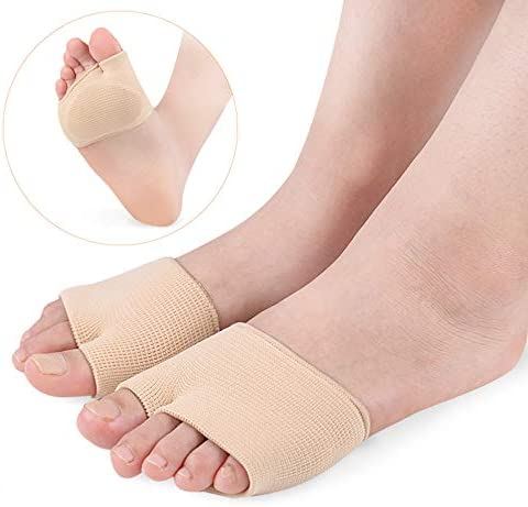 1 Paar Stoff-Fraktur-Zehenmanschette Mittelfußmanschette mit Sohle Kissen Gelpolster für Metatarsalgie, Bruch, Anti-Rutsch-Pads für Schuhe