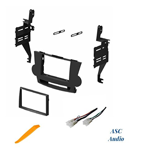 ASC Audio Car Stereo Dash Install Kit and Wire Harness for Installing an Aftermarket Double Din Radio for 2008 2009 2010 2011 Toyota Highlander - No JBL / Factory Premium - 2008 Dash Toyota Highlander